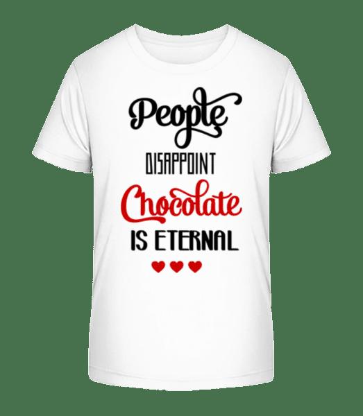 Chocolate Is Eternal - Kid's Premium Bio T-Shirt - White - Vorn