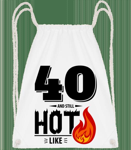 40 And Still Hot - Drawstring Backpack - White - Vorn