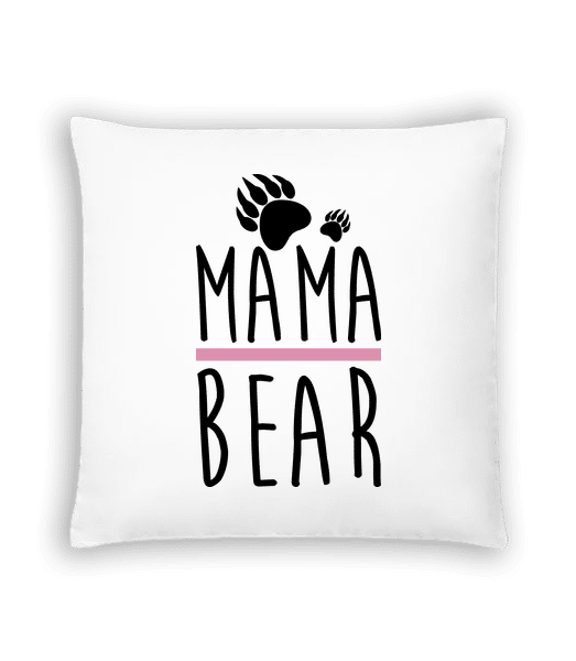 Mama Bear - Cushion - White - Vorn