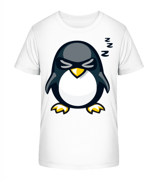 Sleepy Penguin - Kid's Premium Bio T-Shirt - White - Vorn