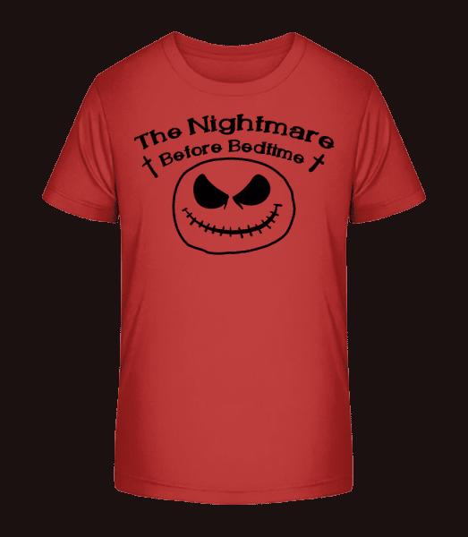 Nightmare Before Bedtime - Kid's Premium Bio T-Shirt - Cherry - Vorn
