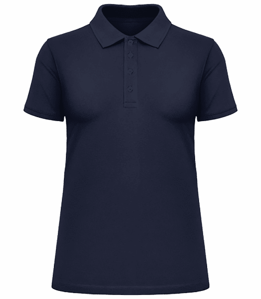 Women's Heavy Piqué Polo Shirt - Navy - Front