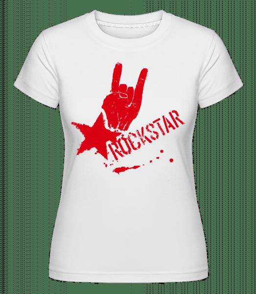 Rockstar Symbol -  Shirtinator Women's T-Shirt - White - Vorn