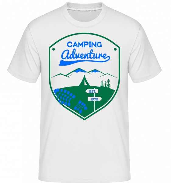 Camping Adventure Sign -  Shirtinator Men's T-Shirt - White - Vorn