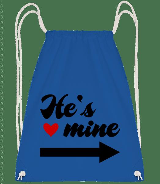 He's Mine - Drawstring Backpack - Royal blue - Vorn