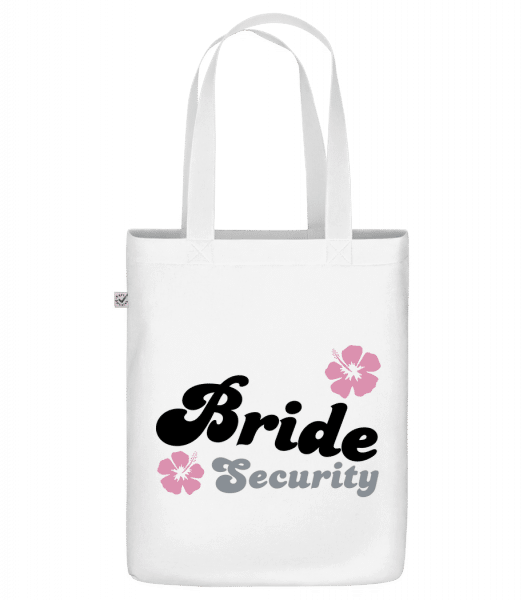 Bride Security Flowers - Bio Tasche - Weiß - Vorn