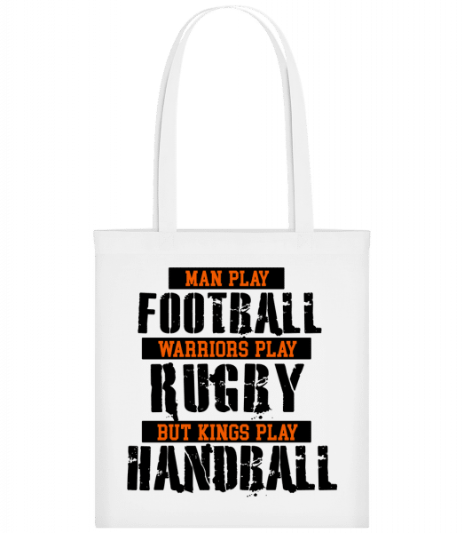 Kings Play Handball - Carrier Bag - White - Vorn