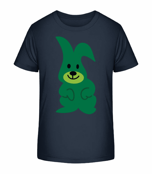 Kinder Comic - Hase - Kinder Premium Bio T-Shirt - Marine - Vorn