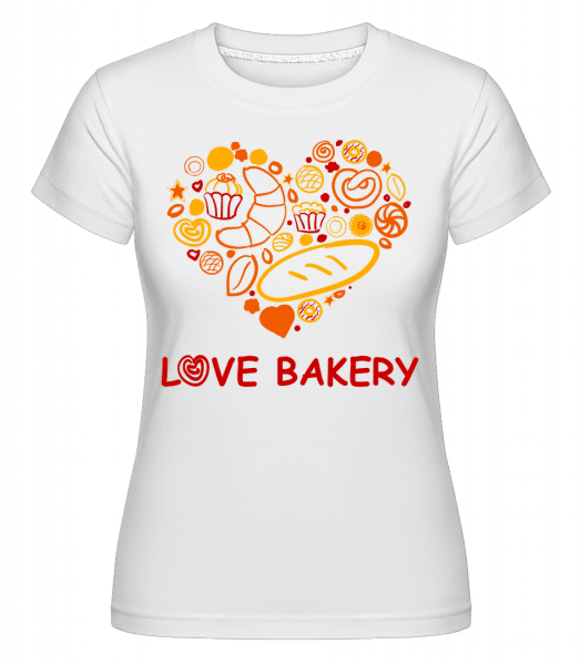 Love Bakery -  Shirtinator Women's T-Shirt - White - Vorn