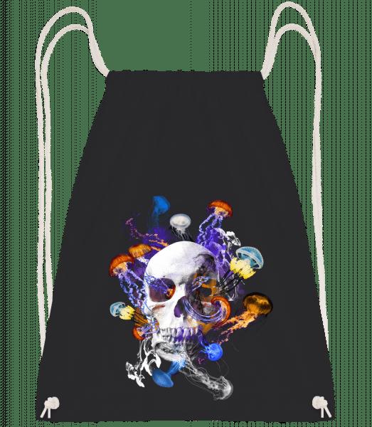 Skull Jellyfish - Drawstring Backpack - Black - Vorn