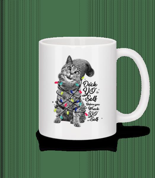 Cat Christmas - Mug - White - Vorn