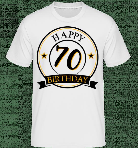 Happy Birthday 70 -  Shirtinator Men's T-Shirt - White - Vorn
