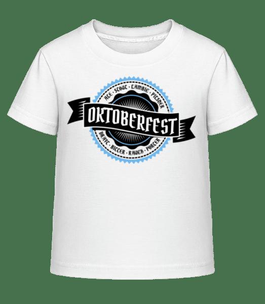 Oktoberfest Draft Bitter - Kinder Shirtinator T-Shirt - Weiß - Vorn