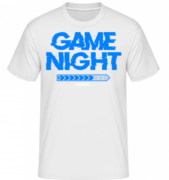 Gamer Night Loading -  Shirtinator Men's T-Shirt - White - Front