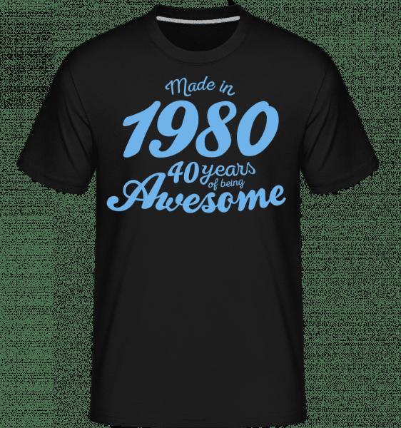 Made In 1980 40 Years -  Shirtinator Men's T-Shirt - Black - Vorn