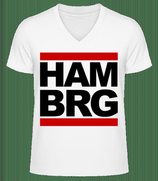 Hamburg Germany - Men's V-Neck Organic T-Shirt - White - Vorn