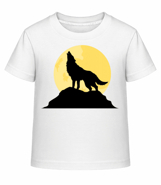 Gothic Wolf Sunset - Kid's Shirtinator T-Shirt - White - Vorn