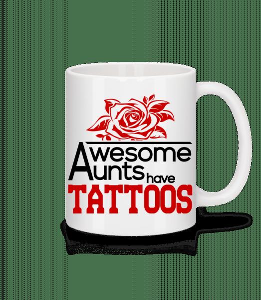 Awesome Aunt Tattoos - Mug - White - Vorn