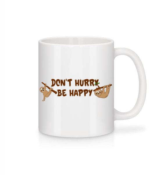 Don't Hurry Be Happy - Mug - White - Vorn