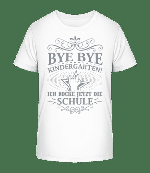 Ich Rocke Die Schule - Kinder Premium Bio T-Shirt - Weiß - Vorn