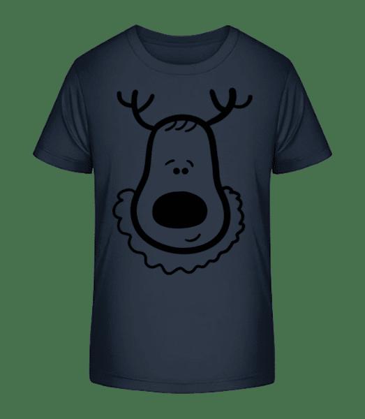 Rennes De Noël - T-shirt bio Premium Enfant - Bleu marine - Devant