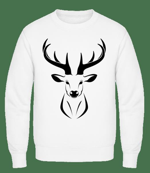 Deer - Classic Set-In Sweatshirt - White - Vorn
