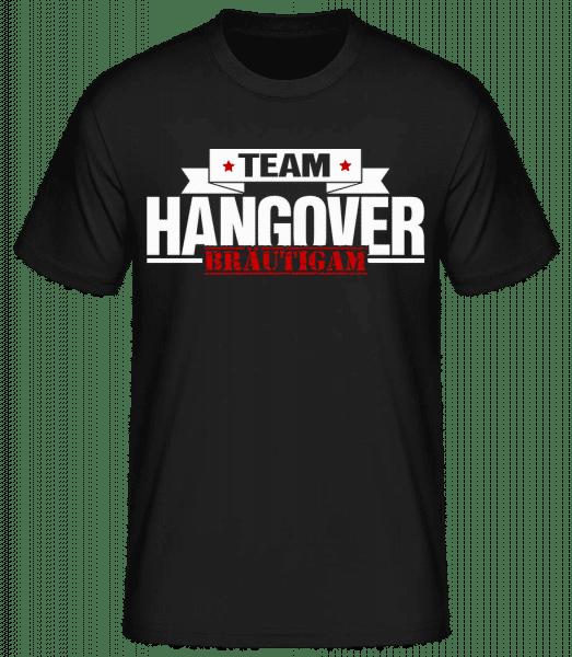 Team Hangover Bräutigam - Männer Basic T-Shirt - Schwarz - Vorn
