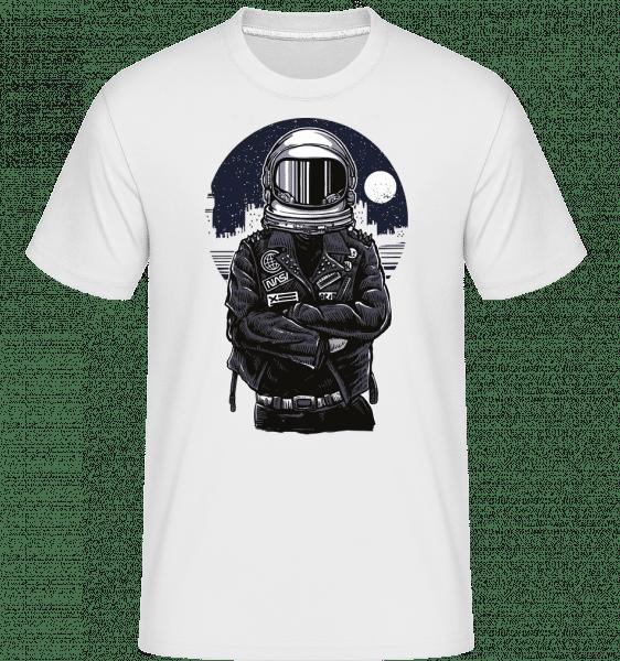 Astronaut Rebel -  Shirtinator tričko pro pány - Bílá - Napřed