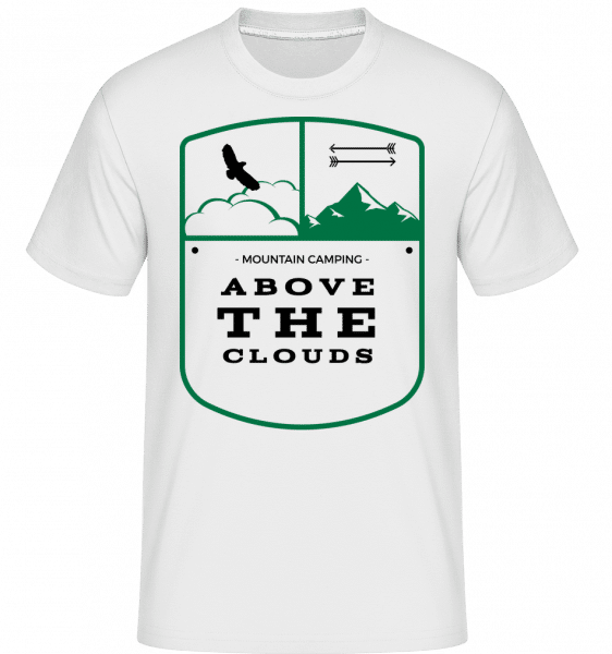 Above The Clouds Camping Icon -  Shirtinator Men's T-Shirt - White - Vorn