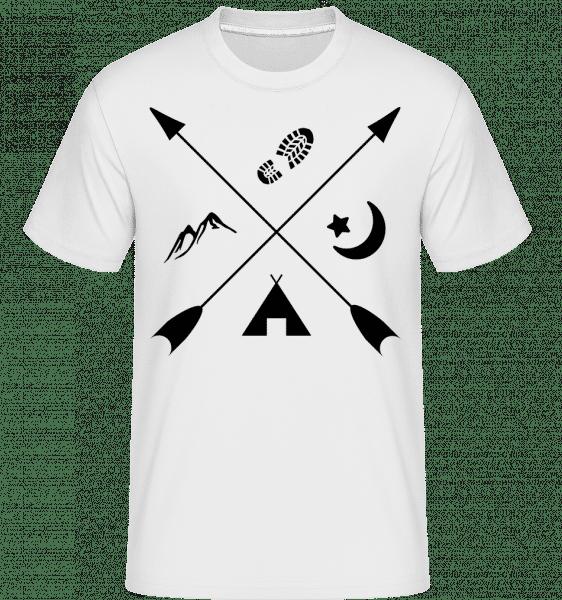 Hipster Pfeile -  Shirtinator Men's T-Shirt - White - Vorn