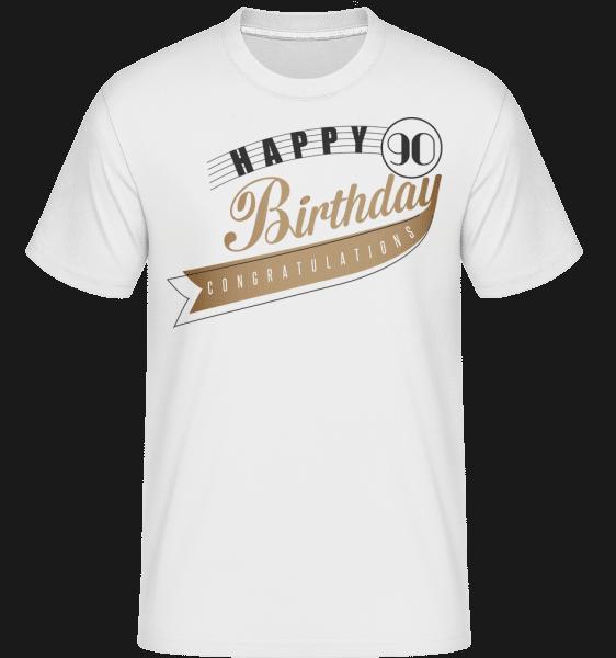 Happy 90 Birthday -  Shirtinator Men's T-Shirt - White - Vorn