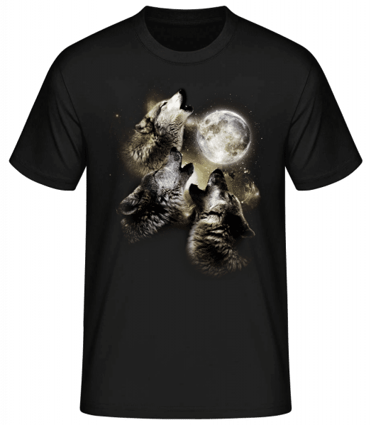 Wolf Moon - Men's Basic T-Shirt - Black - Front