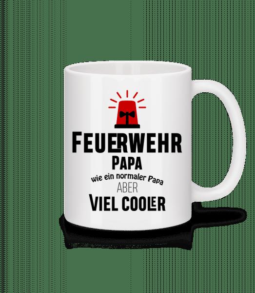 Cooler Feuerwehr Papa - Tasse - Weiß - Vorn