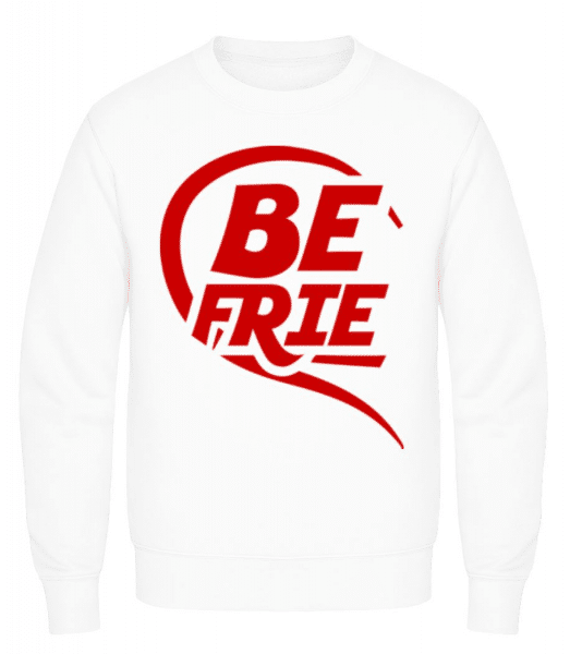 Best Friends - Men's Sweatshirt - White - Front