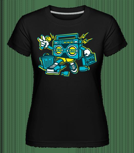 Boombox -  Shirtinator Women's T-Shirt - Black - Vorn