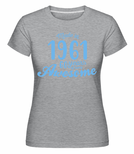 Made In 1961 60 Years -  Shirtinator Women's T-Shirt - Heather grey - Vorn