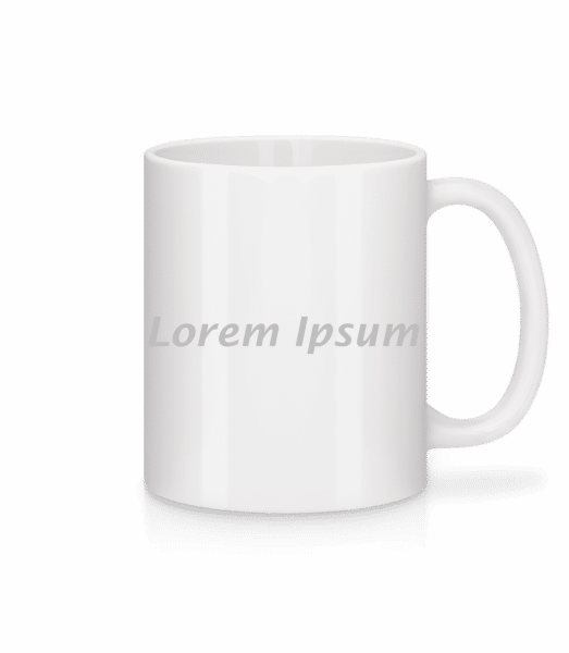 Lorem Ipsum - Tasse - Weiß - Vorn