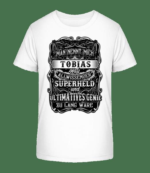 Man Nennt Mich Tobias - Kinder Premium Bio T-Shirt - Weiß - Vorn