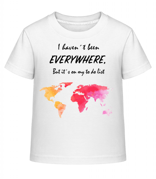 I Havent Been Everywhere - Kid's Shirtinator T-Shirt - White - Vorn