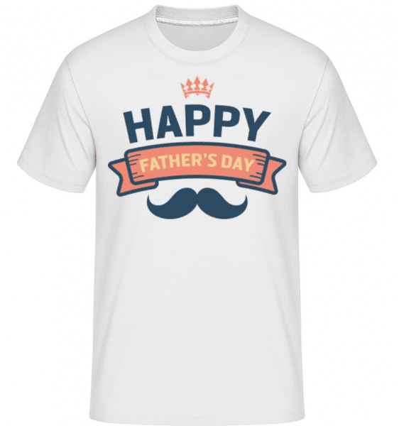 Happy Fathers Day -  Shirtinator Men's T-Shirt - White - Front