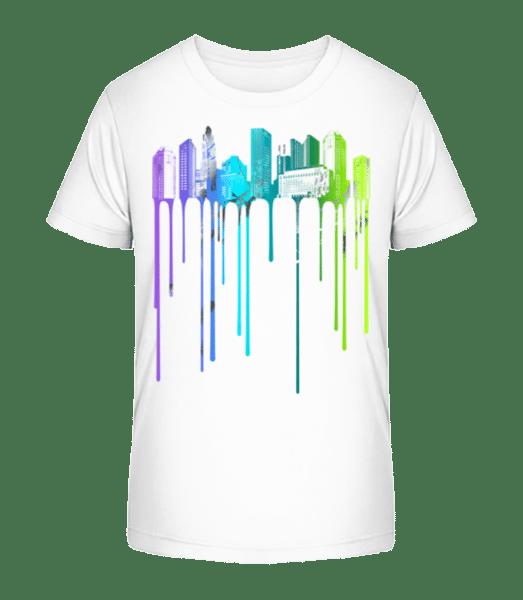 Graffiti Stadt - Kinder Premium Bio T-Shirt - Weiß - Vorn