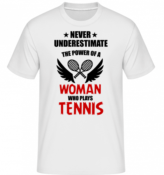 Woman Who Play Tennis -  Shirtinator Men's T-Shirt - White - Vorn