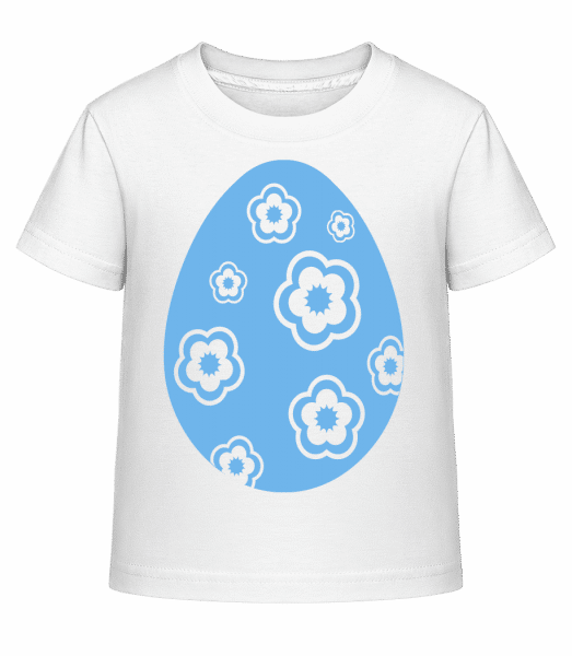 Easter Egg Icon - Kid's Shirtinator T-Shirt - White - Front
