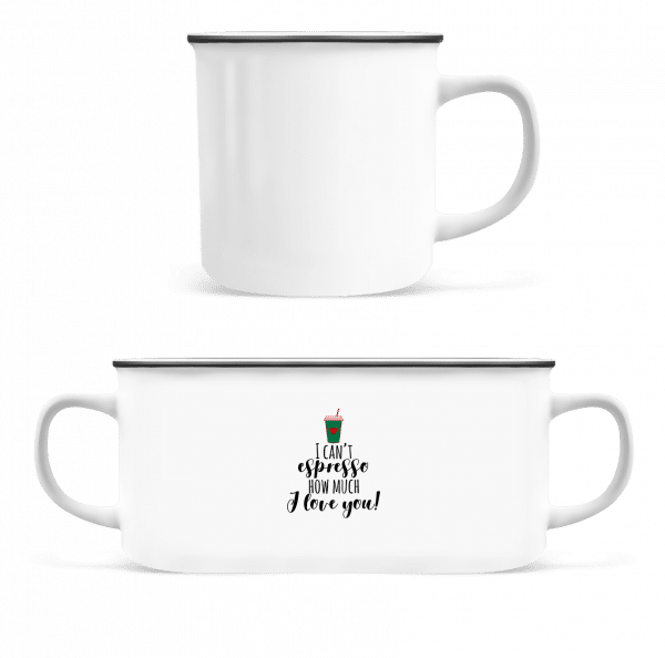 I Can't Espresso - Enamel-cup - White - Vorn