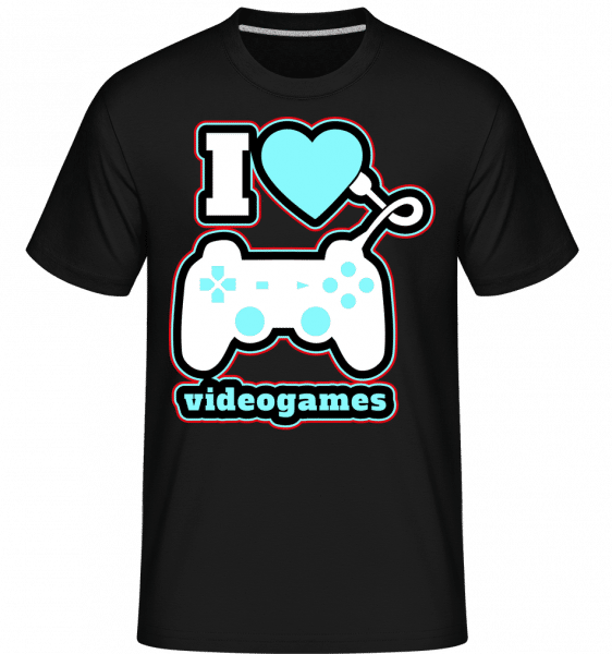 I Love Videogames -  Shirtinator Men's T-Shirt - Black - Vorn