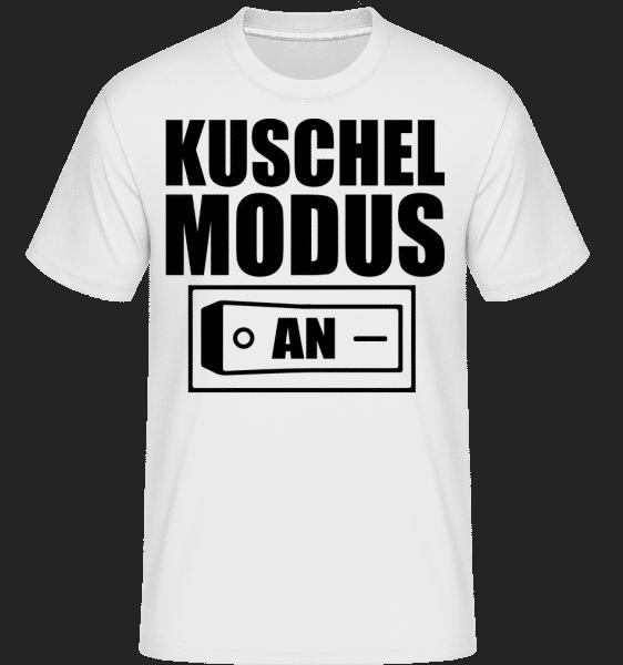 Kuschel Modus An - Shirtinator Männer T-Shirt - Weiß - Vorn