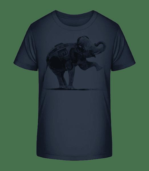 Ghettoblaster Elephant - Kid's Premium Bio T-Shirt - Navy - Vorn