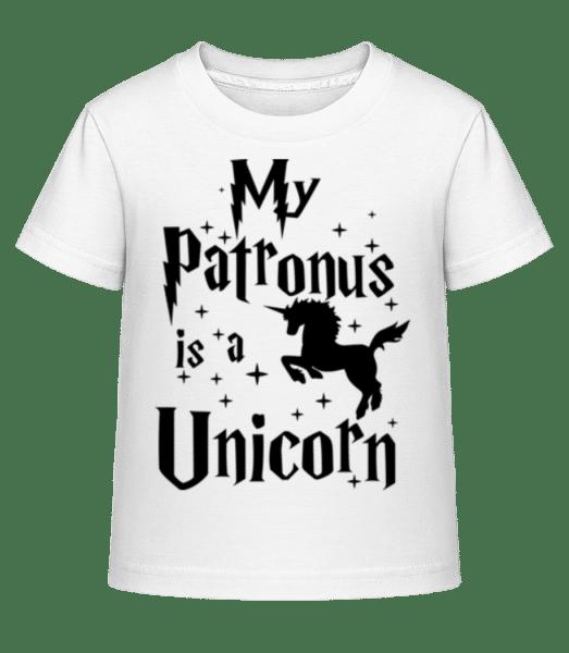 My Patronus Is A Unicorn - Kid's Shirtinator T-Shirt - White - Vorn