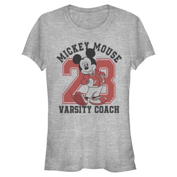 Varsity Mouse Mickey Mouse - Disney Mickey - Women's T-Shirt - Heather grey - Front