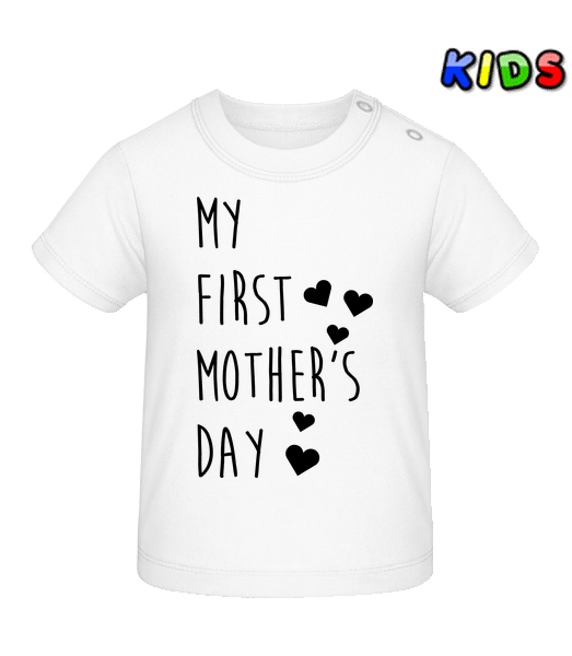 My First Mother's Day - Baby T-Shirt - White - Vorn